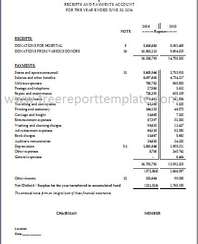 Income Statement / PL Statement template \u2013 Free Report Templates