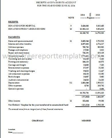 Income Statement / PL Statement template \u2013 Free Report Templates
