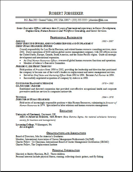 rpi sample resumes