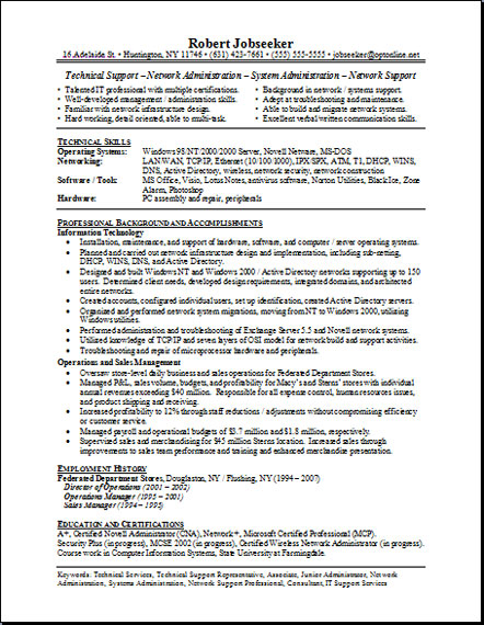 Write A Functional Resume For Yourself | Functional Resume ...