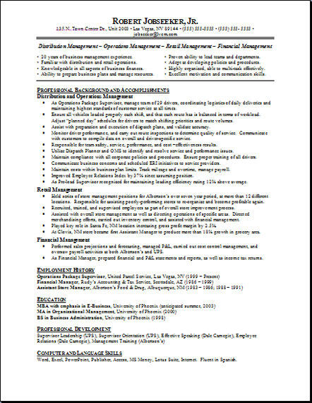 job resume objective 04052017