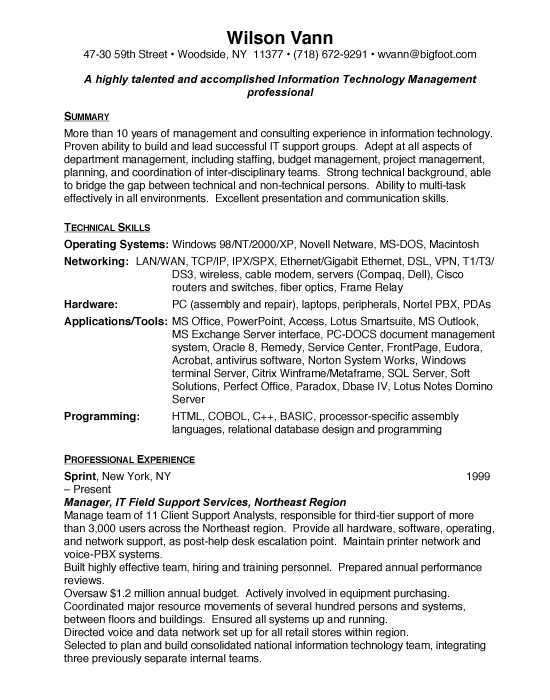 example technology director resume Archives - Free Resumes  Free