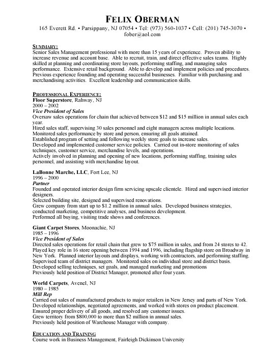 free sample resume Free Resumes