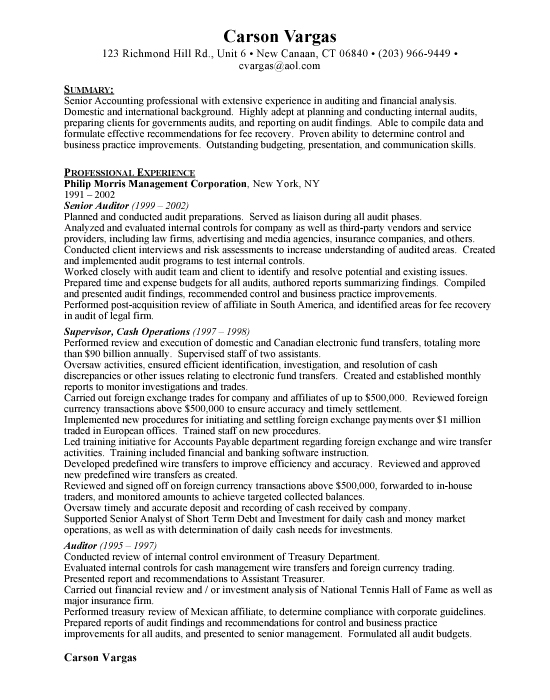 accounting resume examples Free Resumes