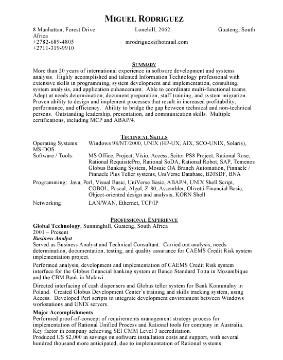 Software Developer - Free Resumes  Free Resumes