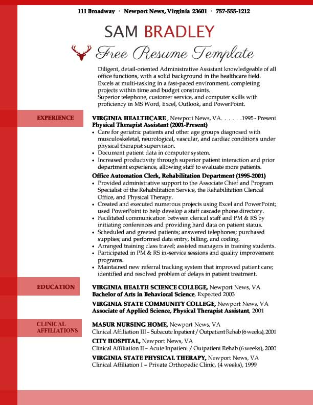 Administrative assistant resume template ⋆ Resume Templates