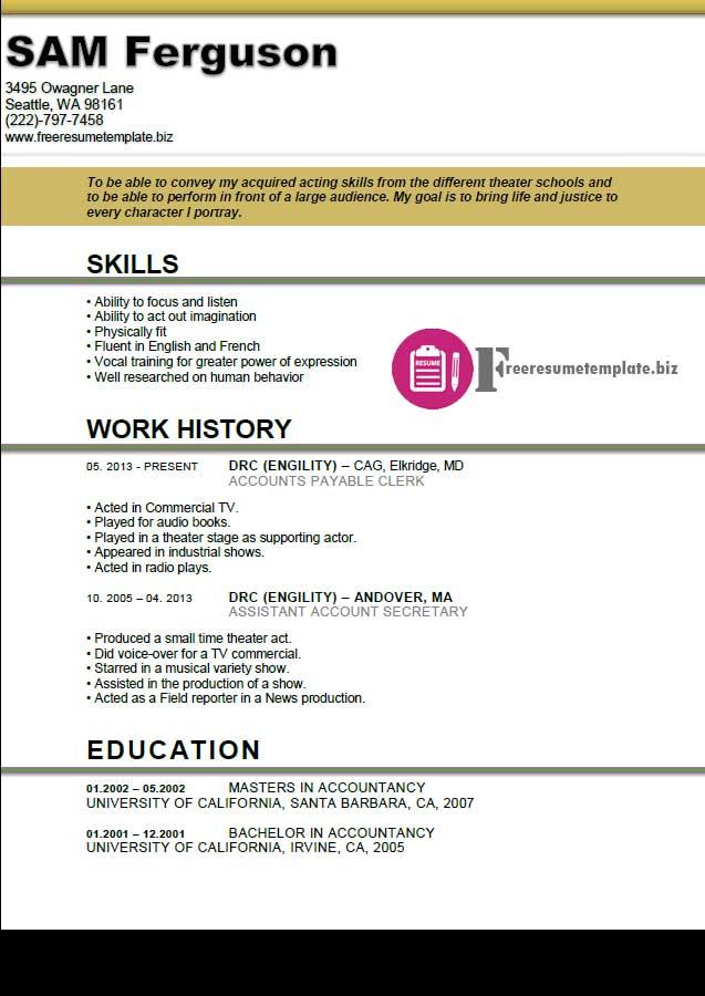 Free Resume Builder No Registration. Employment Application Form Sample