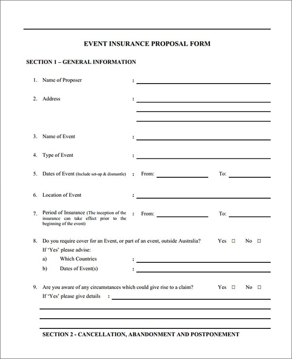 Proposal Form Template - Resume Template Sample - proposal form template