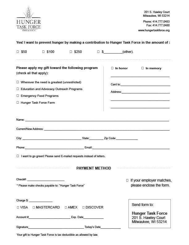6 Charitable Donation Form Templates - formats, Examples in Word Excel - Donation Form Templates