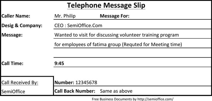 4 Phone Message Templates - formats, Examples in Word Excel
