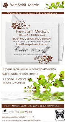 Free Spirit Media Blog Design Sale