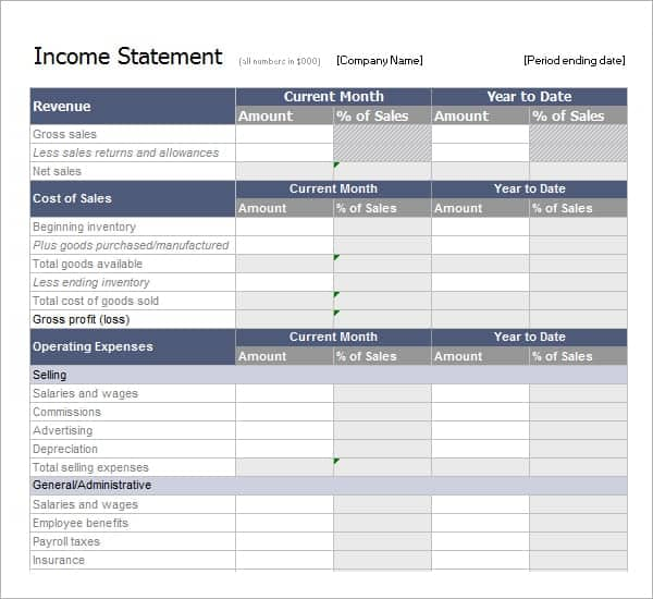 6 Free Statement of Account Templates - Word Excel Sheet PDF