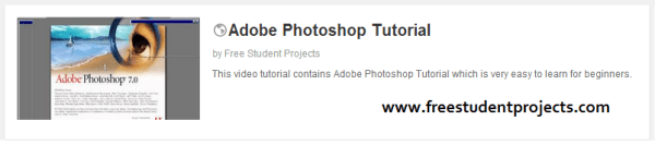 free student projects video tutorial