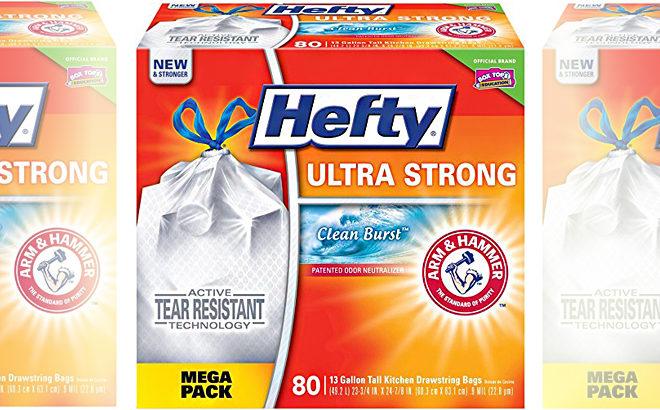 Amazon Hefty Ultra Strong 13 Gallon Trash Bags 80 Count