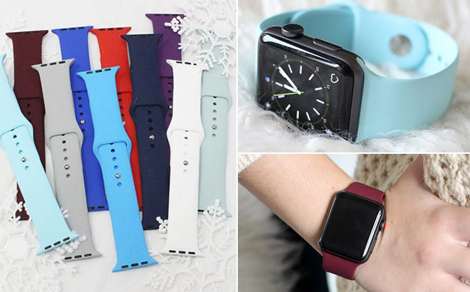Apple Watch Silicone Bands Only 749 Free Shipping Reg