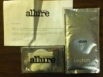 Loofah cleaning pad and a Necessities pack from Allure