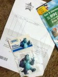 Disney Monster University Sulley 3D Magnet - used Disney reward codes
