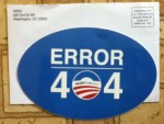 Error 404 HealthCare.gov sticker from NRSC