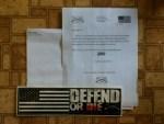 Free Defend or Die Bumper Sticker from Grunt Style