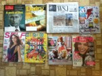 The Economist weekly -Dairy Foods July magazine - The Wall Street Journal - Dan's Comp catalog - Self August magazine - Wired August magazine - American Girl July catalog - Allure August magazine