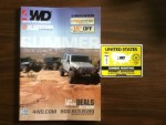 4Wheel Drive Hardware Early Summer 2014 Catalog with a United States Zombie Hunting Permit for 2014-2015