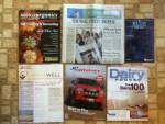 Arbico Organics Fall Catalog 2014 - The Wall Street Journal - Indiana State University information - Health Alliance Simple Well news letter - J C Whitney Truck catalog - Dairy Foods August 2014 magazine