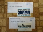 Proud Obama Voter & Fix Congress Vote Democrat 2014 Stickers from Democratic National Headquarters
