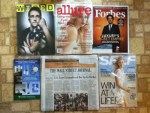 Wired September magazine - Allure September magazine - Forbes September magazine - Weber Scientific catalog - The Wall Street Journal - Self September magazine
