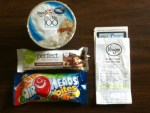 Free items from Kroger - Zone Perfect Bar - Yoplait Greek Yogurt - Air Heads Bites fruit - I did have to pay a penny