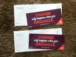 Change only happens when you Organize - Barackobama.com stickers from Organizing for Action