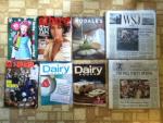 Littlemissmatched catalog - Allure November magazine - Rodale's Launch Issue Fall-Winter 2014 catalog - The Wall Street Journal - Wired November magazine - Dairy Foods October magazine - The Wall Street Journal