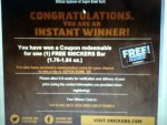 I  Won a Snickers Bar and a chance to WIN a Trip to SUPER B