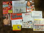 Women's World magazine - The Wall Street Journal - In Touch magazine - Cowboys Indians Preview magazine Offer - Disney Movie Club offer with Stickers