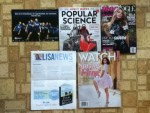 Indiana State University Postcard - Popular Science April magazine - Teen Vogue April magazine - Lisa Scottoline Spring 2015 News Letter - Watch April magazine