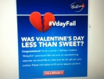 Winner in the Bahlsen Cookie's #VdayFail Promotion - Won Cookies - Thank you Bahlsen USA