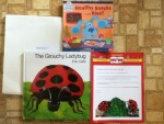 Gifts for participating in Sun-Maid's Snack-N-Read Promotion - Healthy Snacks with Blue! - The Grouchy Ladybug  Books