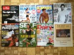 The Economist Weekly - Runner's World June and July magazine's - Men's Fitness July-August magazine - Outdoor Photography July magazine