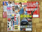 US Weekly - Men's Health July-August magazine - Field & Stream July magazine - MIT Technology Review July-August magazine - Motor Trend August magazine