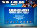 Instant Winner in the MARS Chocolate , Road Trip Game - Won a coupon for a Free bag of COMBOS