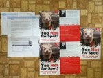 Too Hot for Spot Posters from PETA