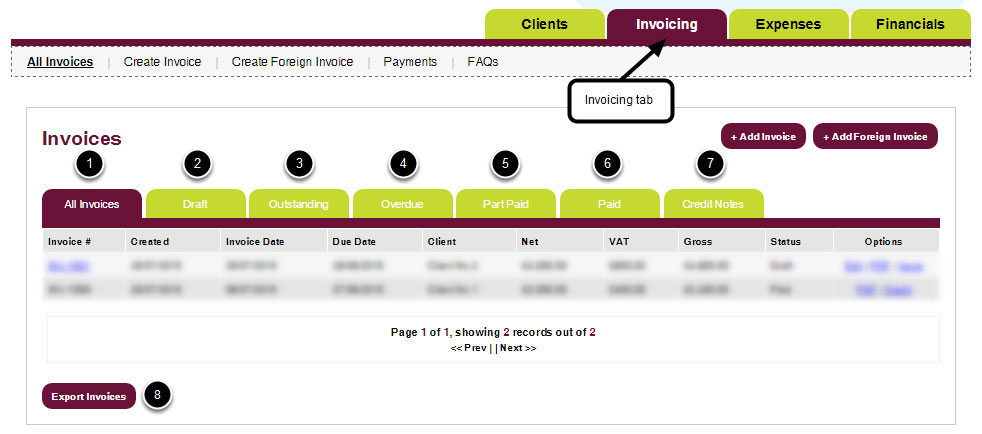 Invoicing  Payments Freestyle Accounting Online Portal - how to invoice a client