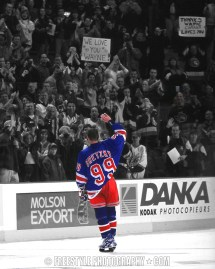 Wayne Gretzky's last game in Canada. April 15, 1999 © Andre Ringuette/Freestyle Photography