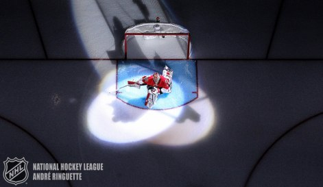 OTTAWA, ON - APRIL 19: The spot lights shine on Craig Anderson #41 of the Ottawa Senators as he stretches in his crease during player introductions prior to playing against the Montreal Canadiens in Game Three of the Eastern Conference Quarterfinals during the 2015 NHL Stanley Cup Playoffs at Canadian Tire Centre on April 19, 2015 in Ottawa, Ontario, Canada. (Photo by Andre Ringuette/NHLI via Getty Images)