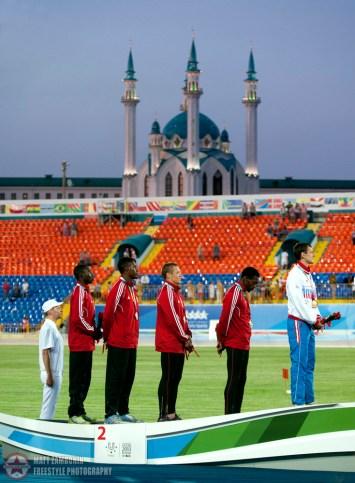 KAZAN, RUSSIA - 13-07-12: Athletics. Summer Universiade 2013, Kazan, Russia (PHOTO: Matt Zambonin/Freestyle Photography)