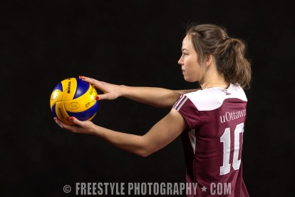 Gee-Gees Studio Photoshoot 2012 Volleyball (PHOTO: Andre Ringuette/Freestyle Photography)