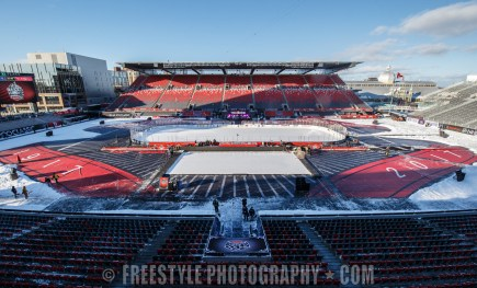 OTTAWA, ON - DECEMBER 16: A general view of the playing surface at the 2017 Scotiabank NHL100 Classic at Lansdowne Park on December 16, 2017 in Ottawa, Canada. (Photo by Andre Ringuette/NHLI via Getty Images)