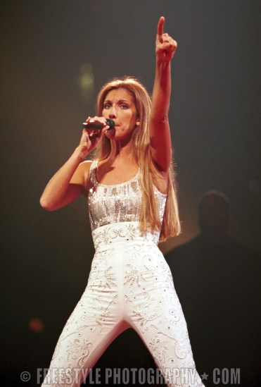 Celine Dion Sept. 13, 1999 PHOTO: Andre Ringuette/Freestyle Photography