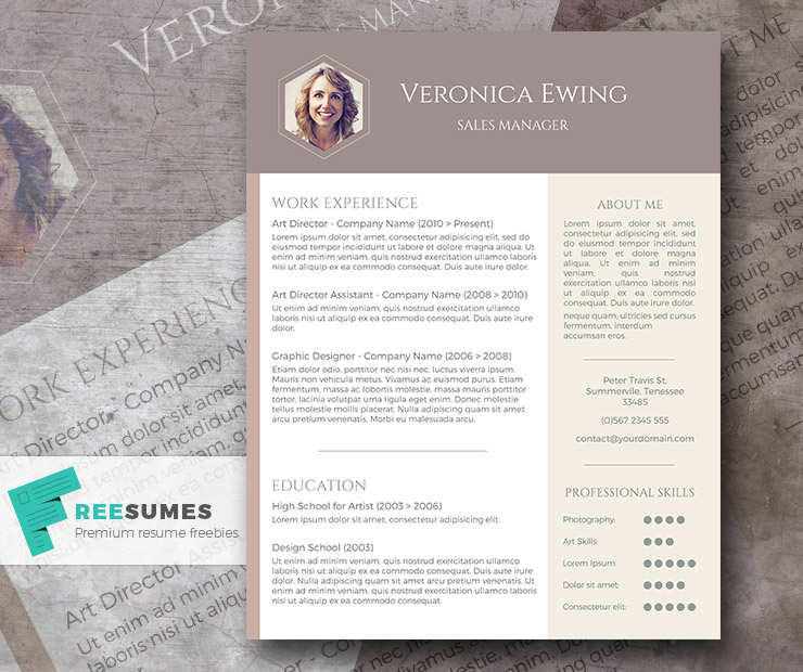 Free Professional CV Template - Honeycomb Photo - Freesumes - professional cv template