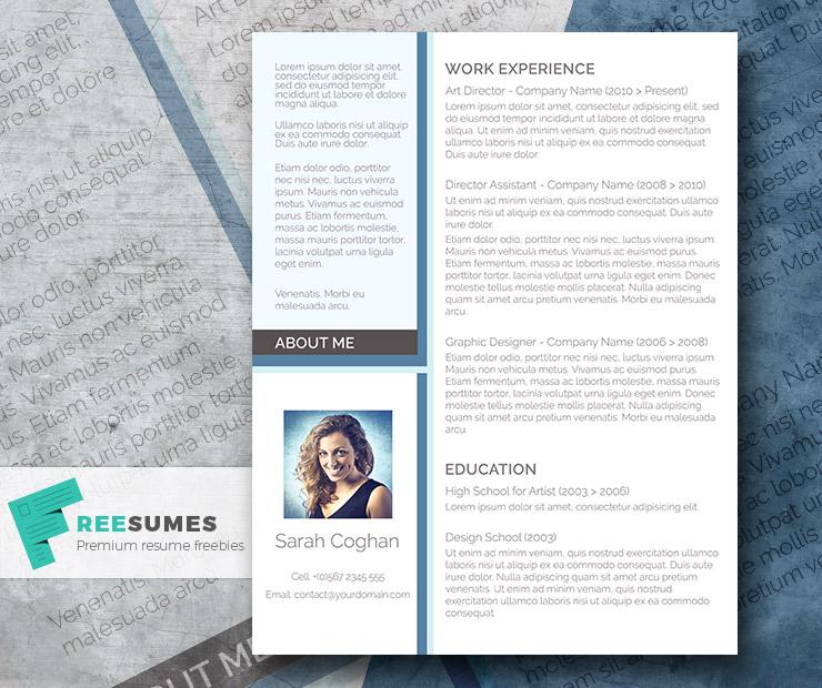 A Splash of Blue \u2013 The Free Modern Resume Design - Freesumes - modern resume design