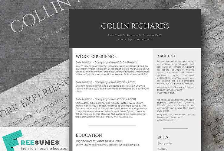 free resume templates for rest managers